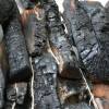detail, look away, found charred wood, twine