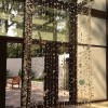 lighting the sun, installation view, Lamar Dodd Art Center, LaGrange College- found glass, redclay,monofilament, steel ring